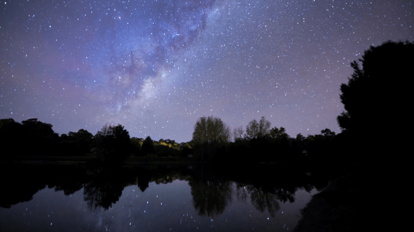 The night sky filled with stars at Losari retreat, luxury accommodation in Margaret River